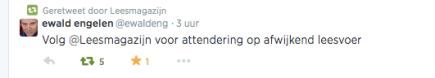 eEwald engelen @ewaldeng  ·  Volg @Leesmagazijn voor attendering op afwijkendleesvoer