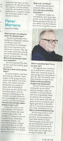 Peter Mertens PvdA Belgie neemt ook Deutschboden van Moritz von Uslar mee opvakantie!