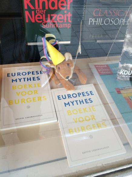 Ewald Engelen, Europese Mythes in etalage en 30 okt. in Boekhandel Het Martyrium,Amsterdam