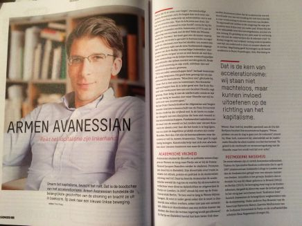 #Acceleratie, Theo Ploeg over Armen Avanessian in Gonzo Circus nov-dec, p.46-49