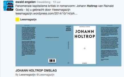 Fenomenale kapitalisme kritiek in romanvorm: Johann Holtrop van RainaldGoetz