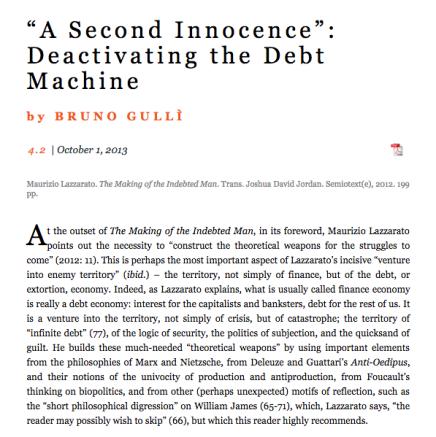 Leesmagazijn heeft de rechten verworven van de vertaling van Maurizio Lazzarato The Making of the Indebted Man Essay on the NeoliberalCondition
