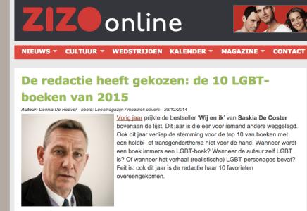 Beste LGBT boek van Zizo.be:  1. Op eenzame hoogte – LucBoudens