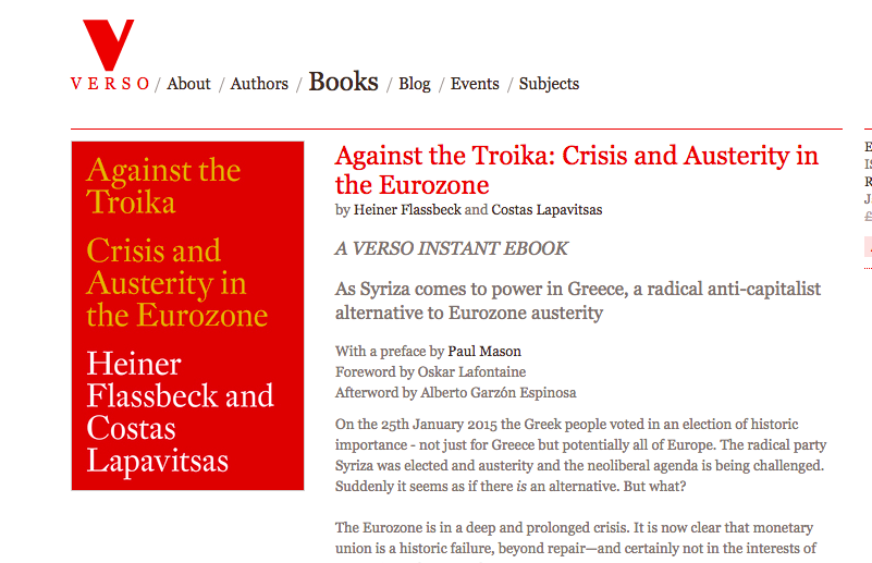 Against the Troika Leesmagazijn