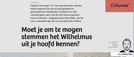 Moet je om te mogen stemmen het Wilhelmus uit je hoofd kennen?, Tamar de Waal, DeCorrespondent