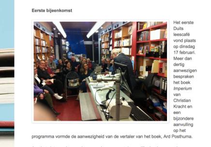 Ard Posthuma in Boekhandel Godert Walter Groningen over Imperium van ChristianKracht