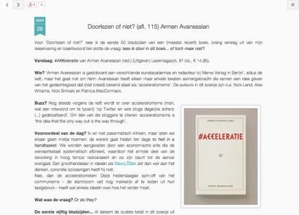 Doorlezen of niet? (afl. 115) Armen Avanessian#Acceleratie