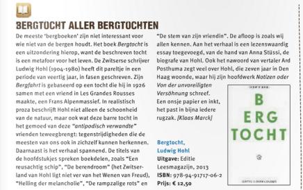 Het past in iedere rugzak: 'Bergtocht aller Bergtochten', Klaas Marck, Hoogtelijn 3 (Bergsportmagazine)