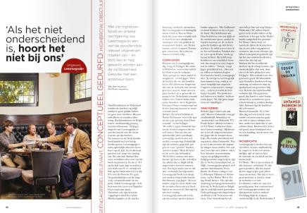 Als  het niet onderscheidend is, hoort het niet bij ons, interview Mark Cloostermans, Boekblad11-7-15