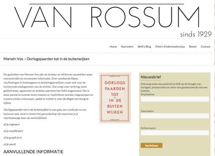 Boekhandel Van Rossum Aanraders: Marwin Vos – Oorlogspaarden tot in debuitenwijken