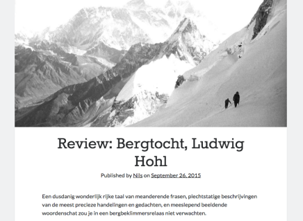 Bergtocht, Ludwig Hohl, Nils Geylen September 26,2015