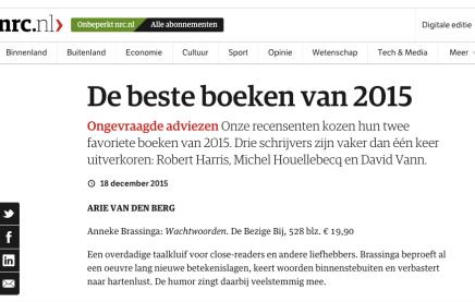 Johann Holtrop van Rainald Goetz bij de beste boeken van 2015 Ongevraagdeadviezen