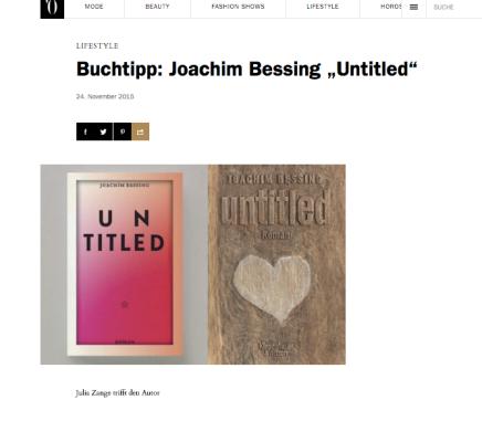 "Buchtipp: Joachim Bessing""Untitled"""