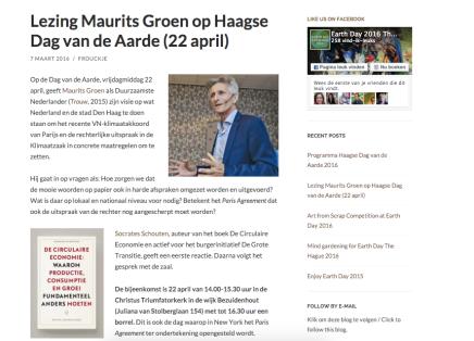 Earthday, met Maurits Groen en SocratesSchouten