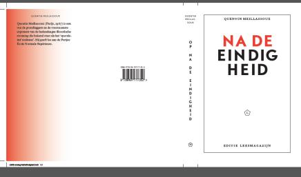 Na de Eindigheid, Quentin Meillassoux, cover ontwerpv1