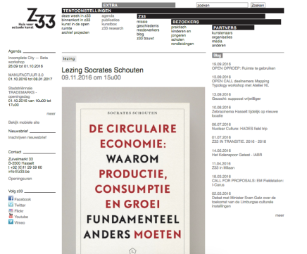 Z33, Hasselt (B) Lezing Socrates Schouten 09.11.2016 om15u00