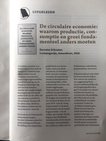 Recensie De Circulaire Economie, Bart Martens, Sampol 2016/8,p.85-85