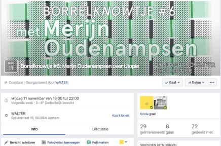 vrijdag 11 november van 18:00 tot 22:00 Merijn Oudenampsen/ Walter Arnhem , Spijkerstraat 19,BorrelKnowtje #6