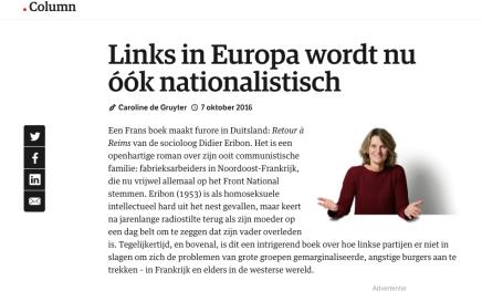 Links in Europa wordt nu óók nationalistisch, 7 oktober2016