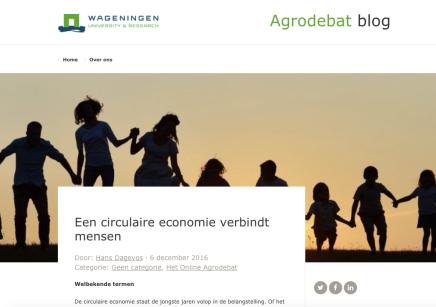 Een circulaire economie verbindt mensen, Hans Dagevos, Wageningen University Research, 6 december2016