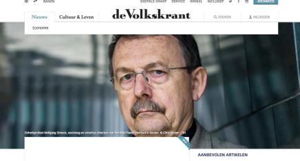 Onheilsprofeet Wolfgang Streeck voorspelt kapitalistische apocalyps 'Het kapitalisme gaat ten onder aan een overdosis van zichzelf', Koen Haegens, Volkskrant18-02-2017