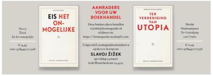 G10 – Eis het onmogelijke, Slavoj Zizek & aanrader: Ter verdediging van Utopia, MerijnOudenampsen