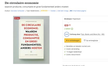 Recordprijs bij BOL voor Circulaire Economie, SocratesSchouten