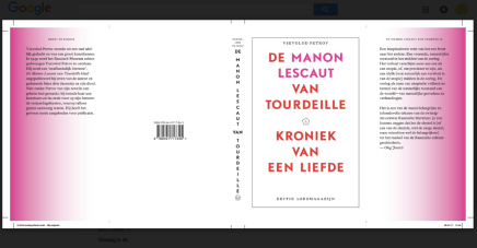 De Manon Lescaut van Tourdeille – cover draft
